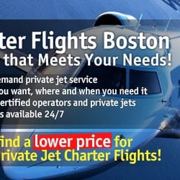 Boston Private Jet Charter Flights  Airlines  Downtown  Boston MA  Photo