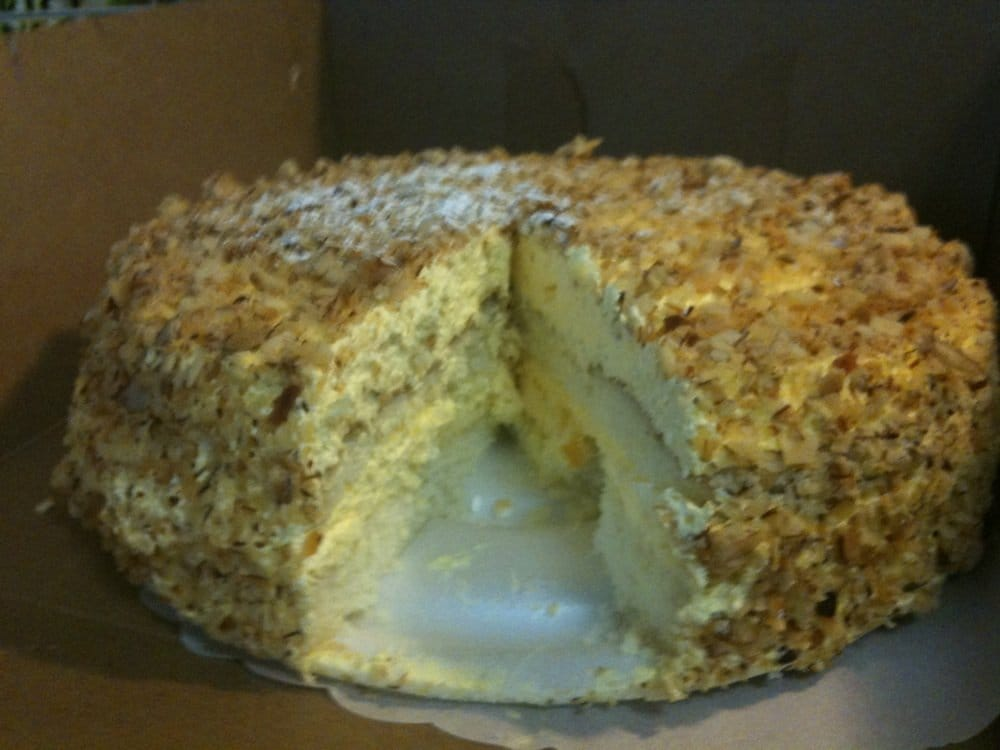 Peters Bakery San Jose Burnt Almond Cake