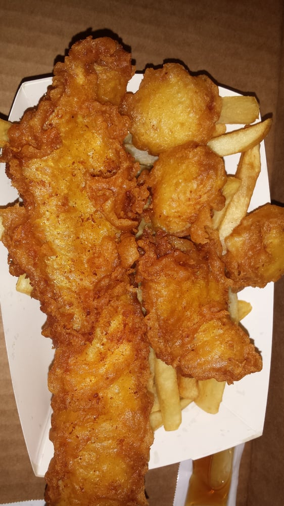 Tugboat fish and chips seafood restaurants yelp for All you can eat fish and chips near me