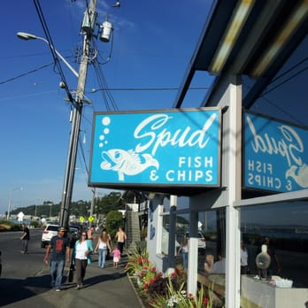 Spud fish chips 112 photos seafood alki seattle for Best fish and chips in seattle