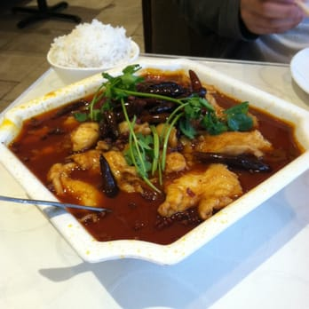 Sichuan Jin River - Fish fillet and veggies in spicy broth - Rockville, MD, Vereinigte Staaten