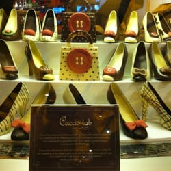 Shoes and handbags made of chocolate
