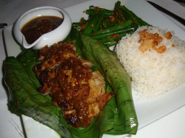 Goat In Banana Leaves With Spicy Peanut Sauce Recipes — Dishmaps