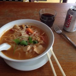 Mmmm chicken tom yum noodle soup