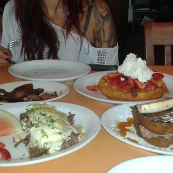 Banana Waffles With Candied Bacon Recipes — Dishmaps