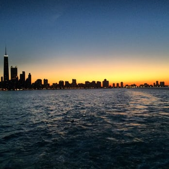 Wendella Sightseeing Boats - Chicago, IL, États-Unis. Sunset cruise