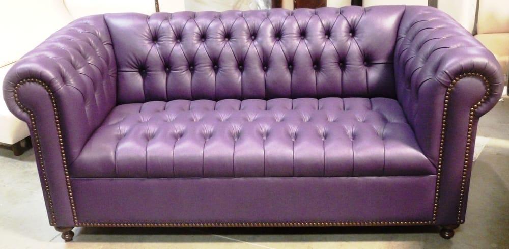 Custom Tight Seat Tight Back Leather Sofa