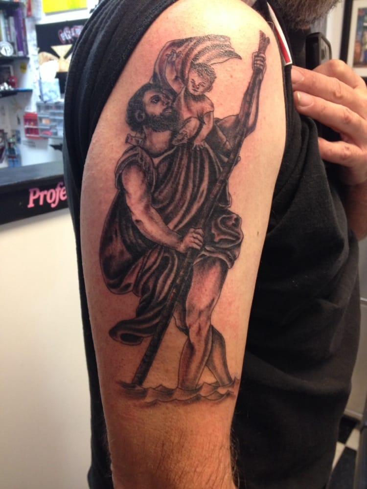 Saint Christopher Tattoo By Scott Kaufmann Yelp