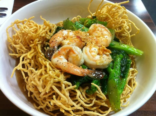 Rad Na crispy egg noodles with shrimps | Yelp