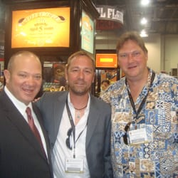 Heiko Nest at the 2013 IPCPR in Las Vegas with Christopher Mey of Rocky Patel Premium Cigars.