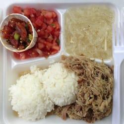 Koloa Fish Market - Kalua pig Hawaiian plate - Koloa, HI, Vereinigte Staaten