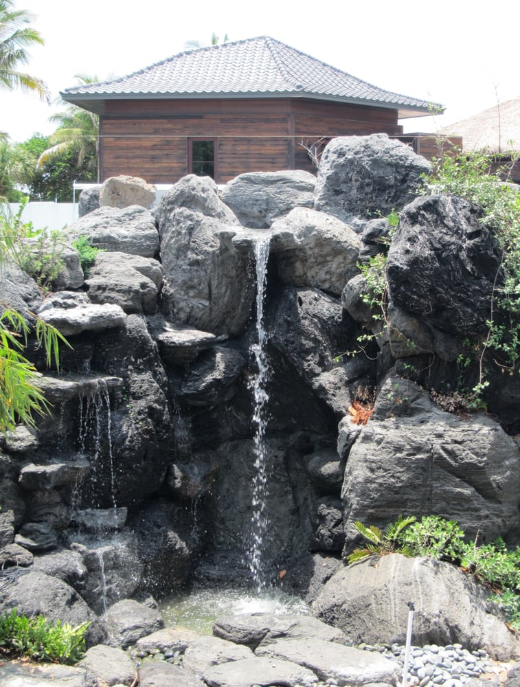 Waterfalls fountain gardens inc landscape architects for Landscaping rocks fort lauderdale