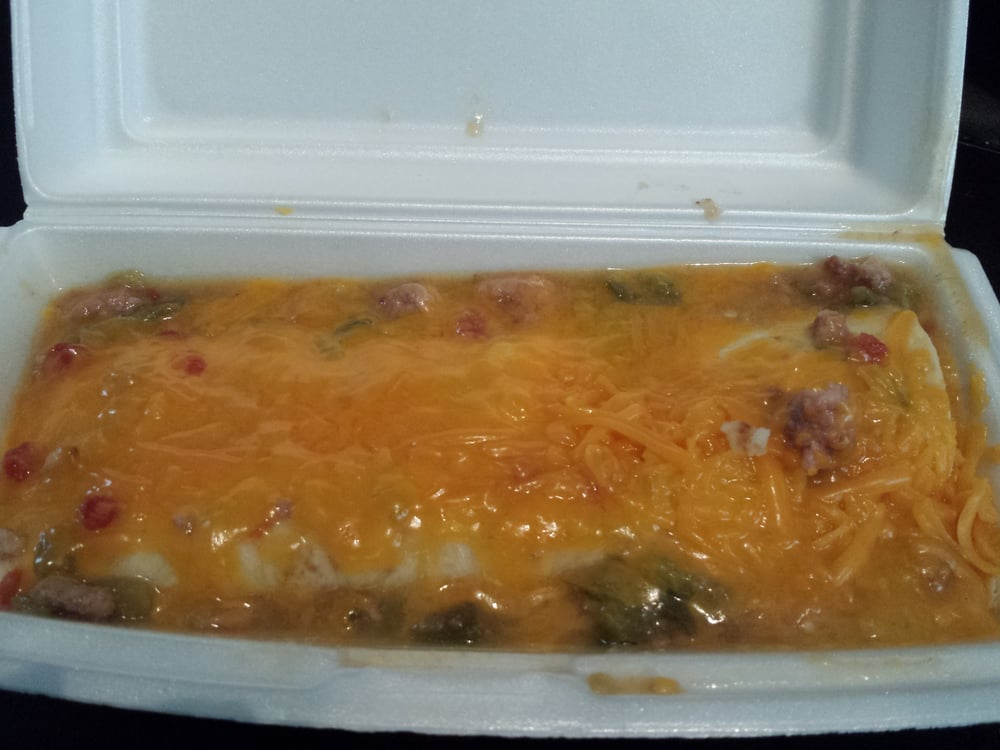 Burrito Giant - Denver, CO, United States. Deluxe pulled pork green chili with Xtra cheese
