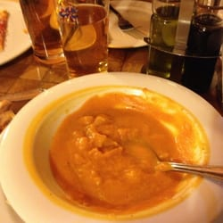 Amazing pumpkin soup, and shared a…