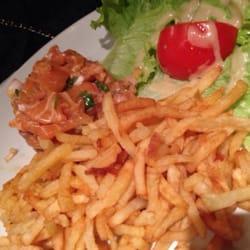 L'Alouette - Paris, France. Salmon tartare