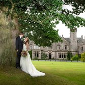 Roxburghe Hotel - front of estate big tree - Kelso, Scottish Borders, United Kingdom