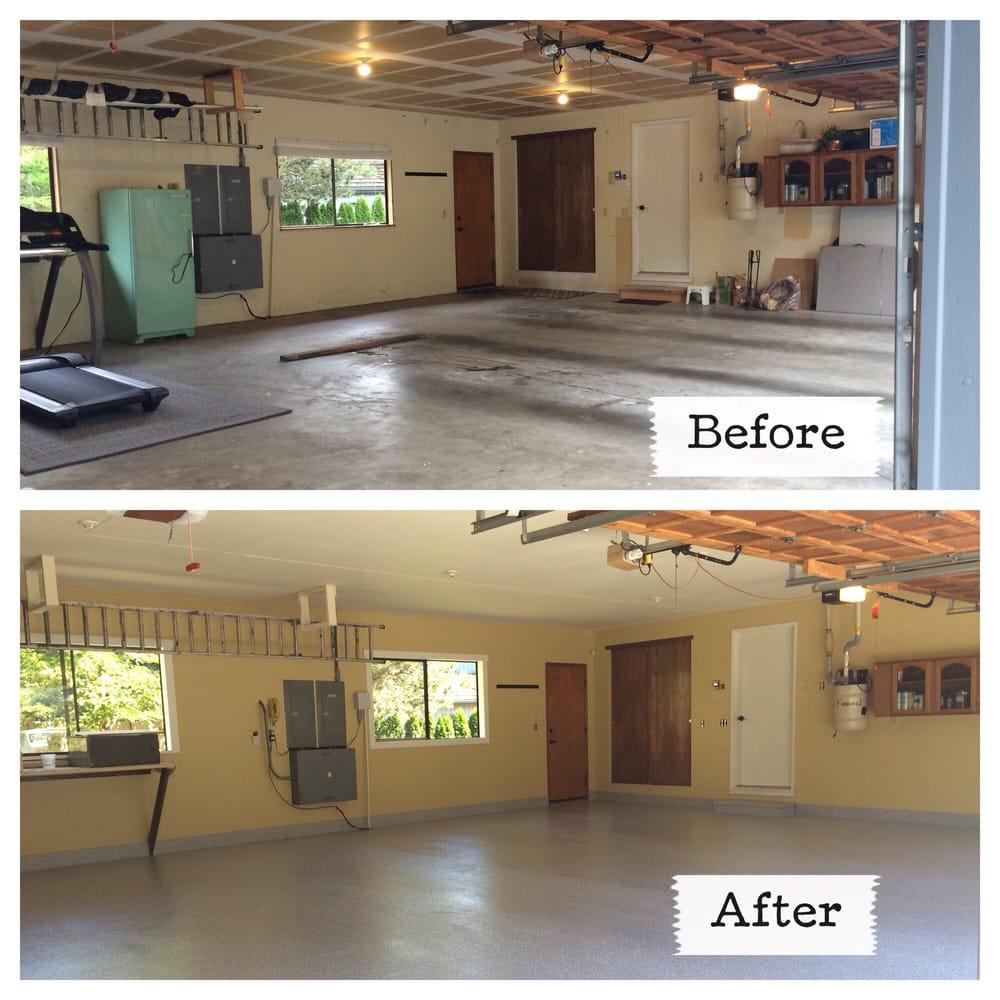 New Garage Flooring: 5500 Olympic Drive