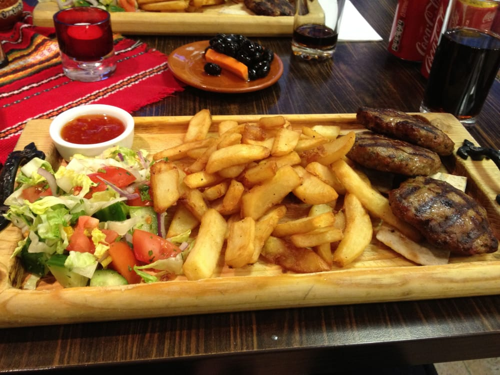 Hungarian meatballs with chips and salad | Yelp
