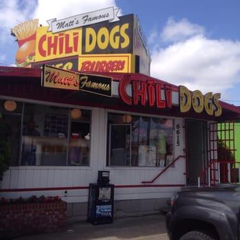 Yelp Matts Famous Chili Hot Dogs