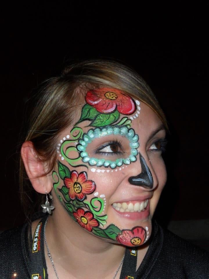 face painting san antonio sugar skull by almapaints yelp