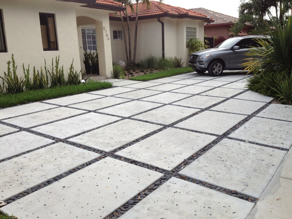 We specialize in modern rectangle concrete driveways yelp for New concrete driveway