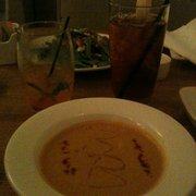 Bistro on the Brandywine - Butternut squash soup with tarragon truffle honey. - Chadds Ford, PA, Vereinigte Staaten