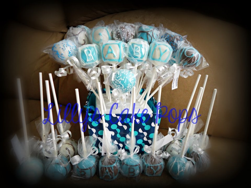 Lilly s cake pops san diego ca united states boy baby shower cake