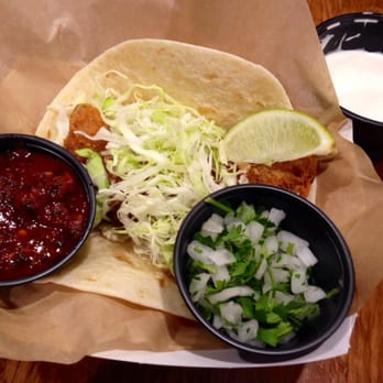 Rubio s fresh mexican grill san diego ca united states for Fish taco white sauce
