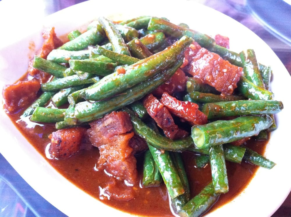Spicy Crispy Pork Belly with Prik Khing Green Beans | Yelp