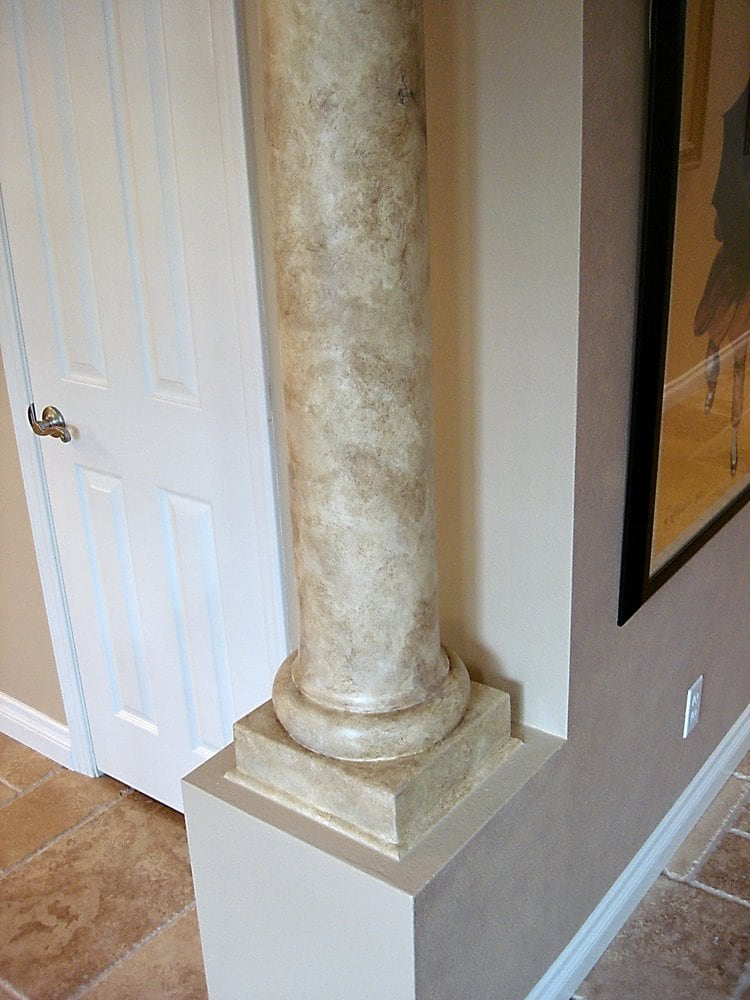 Travertine Faux Finish : Faux travertine column yelp