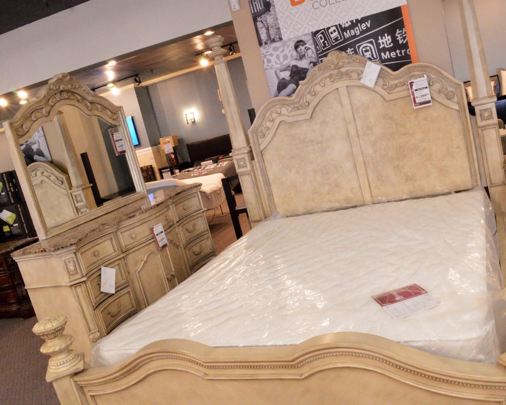 Ashley Furniture Old World Cal King Bed Set Yelp