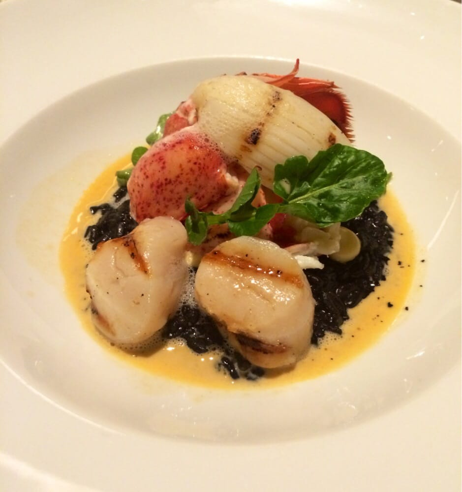 Squids Ink Squid Ink Risotto w/ Lobster
