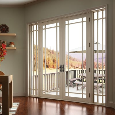 advanced window vinyl french doors with sidelights and marginal