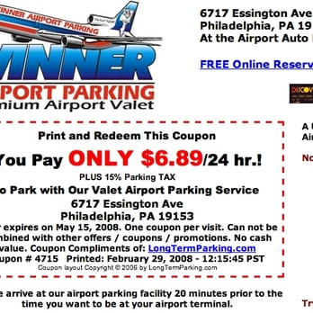 Show this coupon to save 10% off regular parking rates at Colonial Airport Parking for the Philadelphia International Airport (PHL). This coupon is good for both Valet & Self-Parking Services. Present this coupon when exiting.