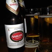 An Nam serves both Tiger and Saigon beer