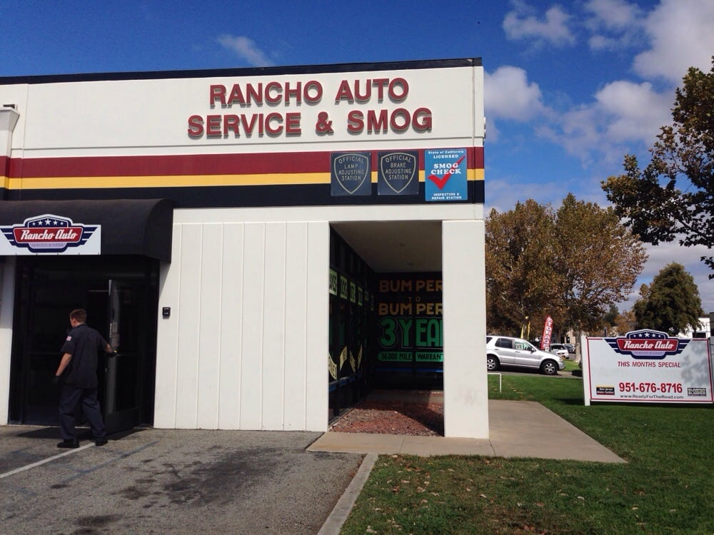 Rancho auto service smog smog check stations for Rancho motors used cars