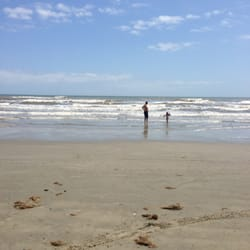 Sand 'N Sea Properties - Daddy and Sophie at the beach! - Galveston, TX, Vereinigte Staaten