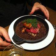 Pavé d'esturgeon, foie gras et écailles…