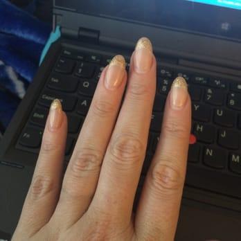 Nail Styles - Memphis, TN, United States. Glitter tip gel nails