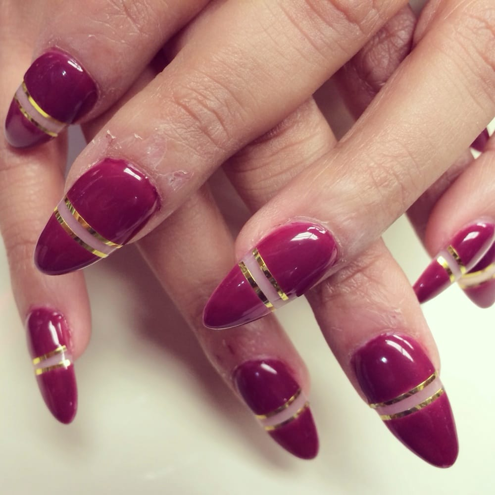 See thru design on almond nails | Yelp