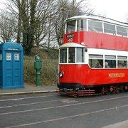 the tram arrives...