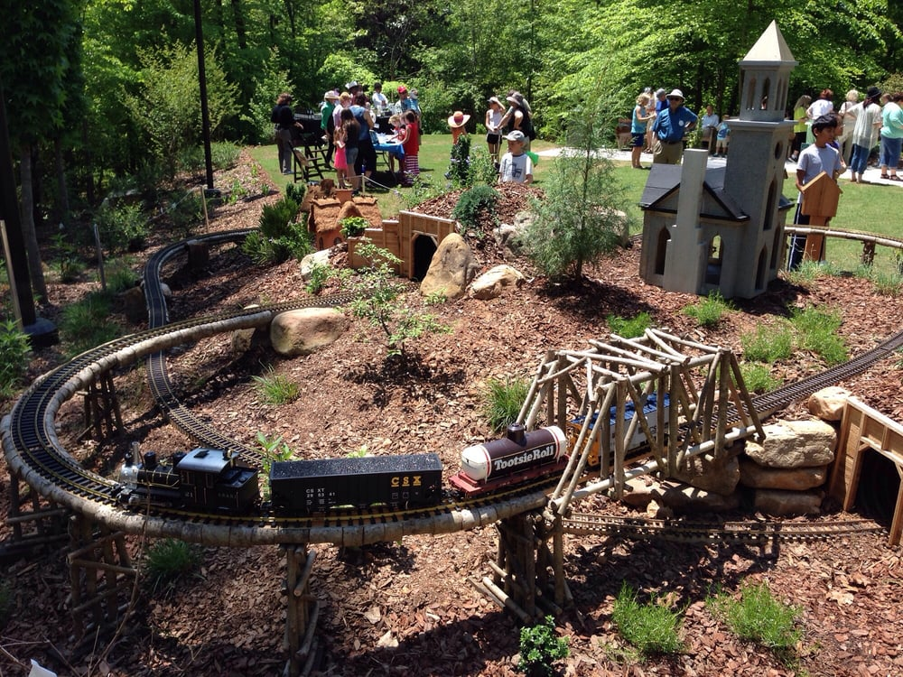 Model train garden yelp for Botanical gardens gainesville ga