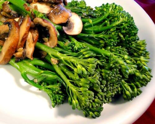 Broccolini with Garlic Mushrooms | Yelp