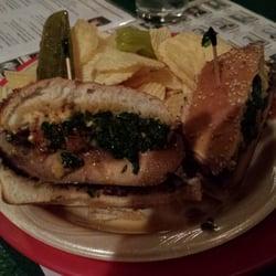 Founding Fathers Pub - Buffalo, NY, United States. Portobello Burger