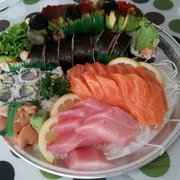 So much sushi so inexpensive for Lawrence fish market menu