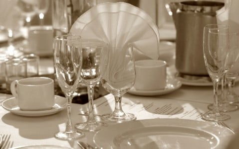 table setting with wine glasses 2