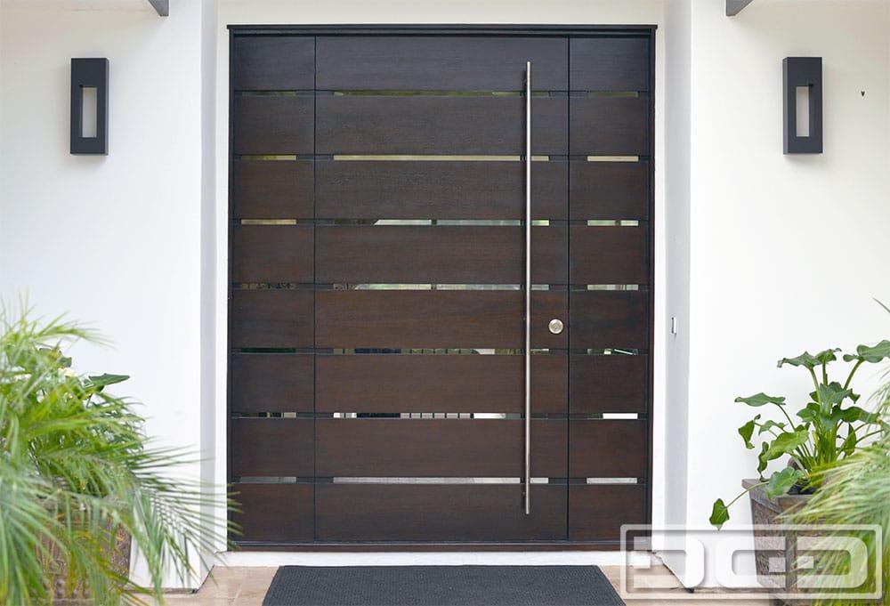 Orange County Ca Modern Entry Doors In Solid Mahogany Wood Custom Contemporary Front Door