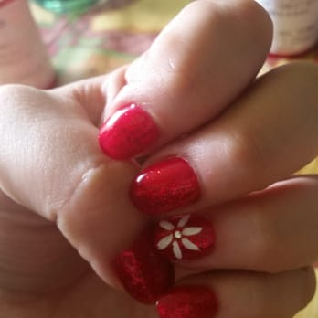 Vestal, NY, United States. Acrylic fill-in and gel manicure by True