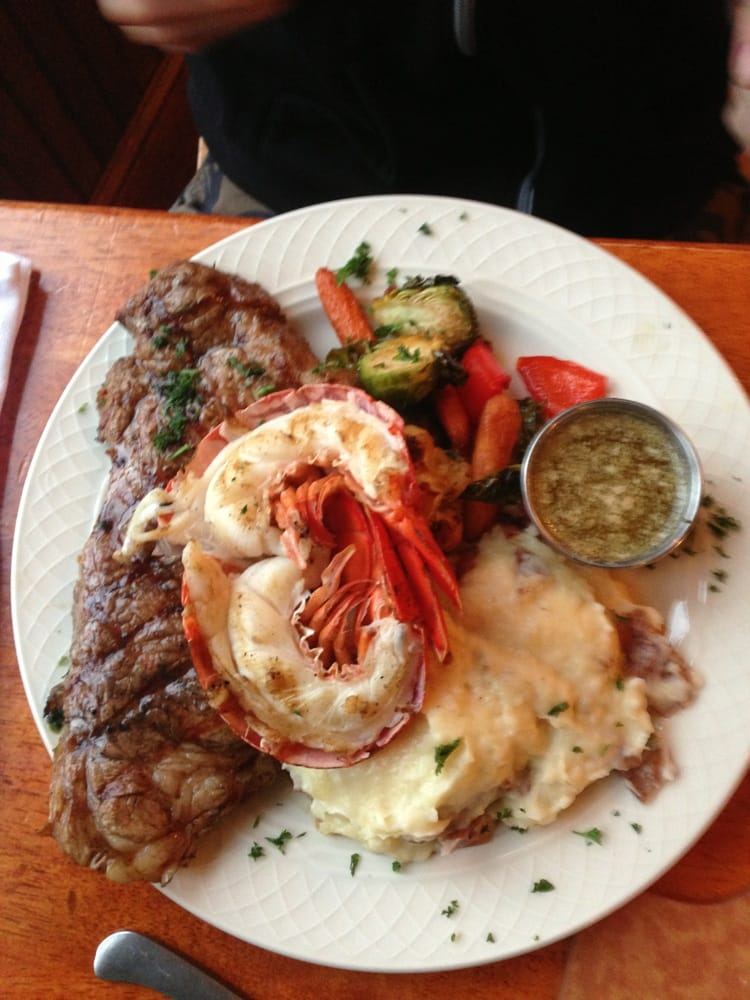 Steak and lobster dinner   Yelp