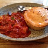 An okay veg pie with ratatouille